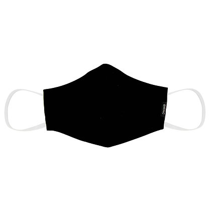 Máscara de Tecido Tricoline Lisa Fio 120 100% Algodão - Cor Preto