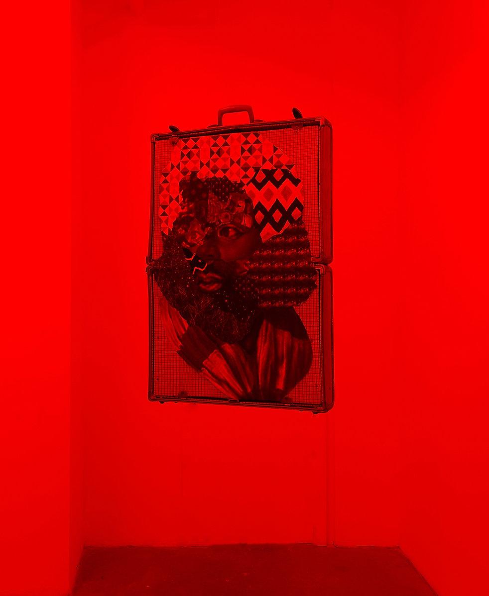 David Shrobe, Suitcased Brown,2017, oil,