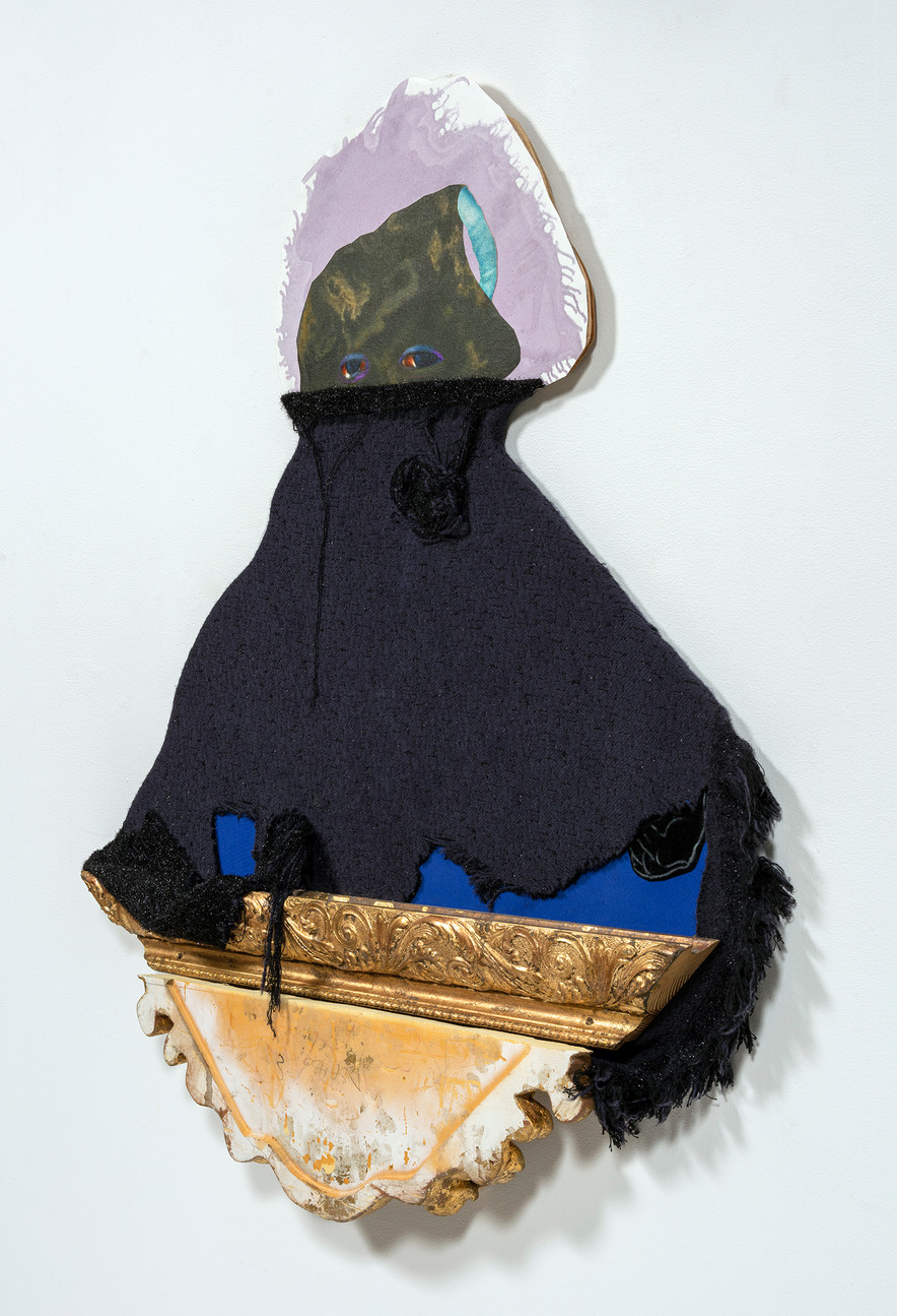 Cloaked side view