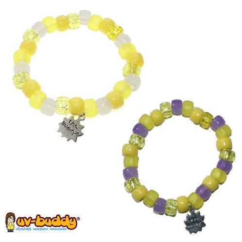 Custard and Mustard UV Bracelet