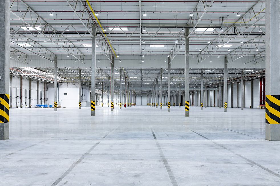 inside of an empty warehouse