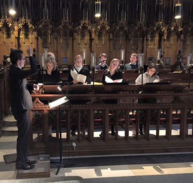 Singing evensong at York Minster