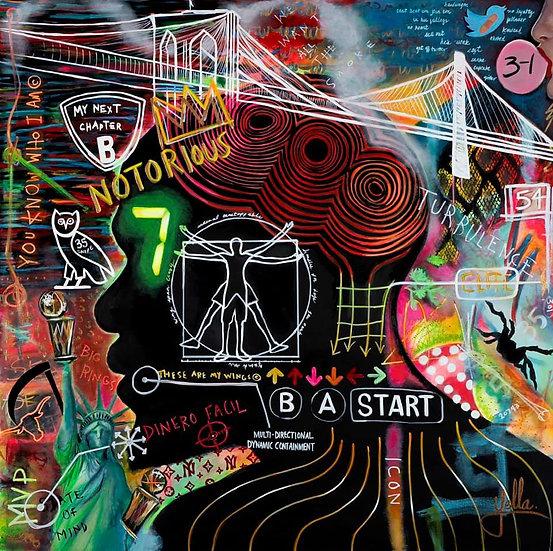 B A S Q U I A T B A L L | KEVIN DURANT|Limited Edition Fine Art Print