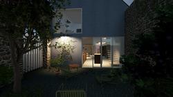 Le patio privatif et son claustra