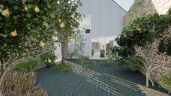 Le patio privatif et son jardin cloître