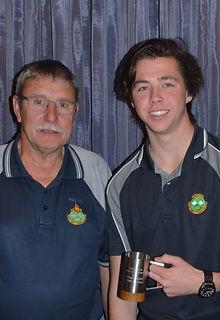 Caleb Garraway - John Maas Award with Jo
