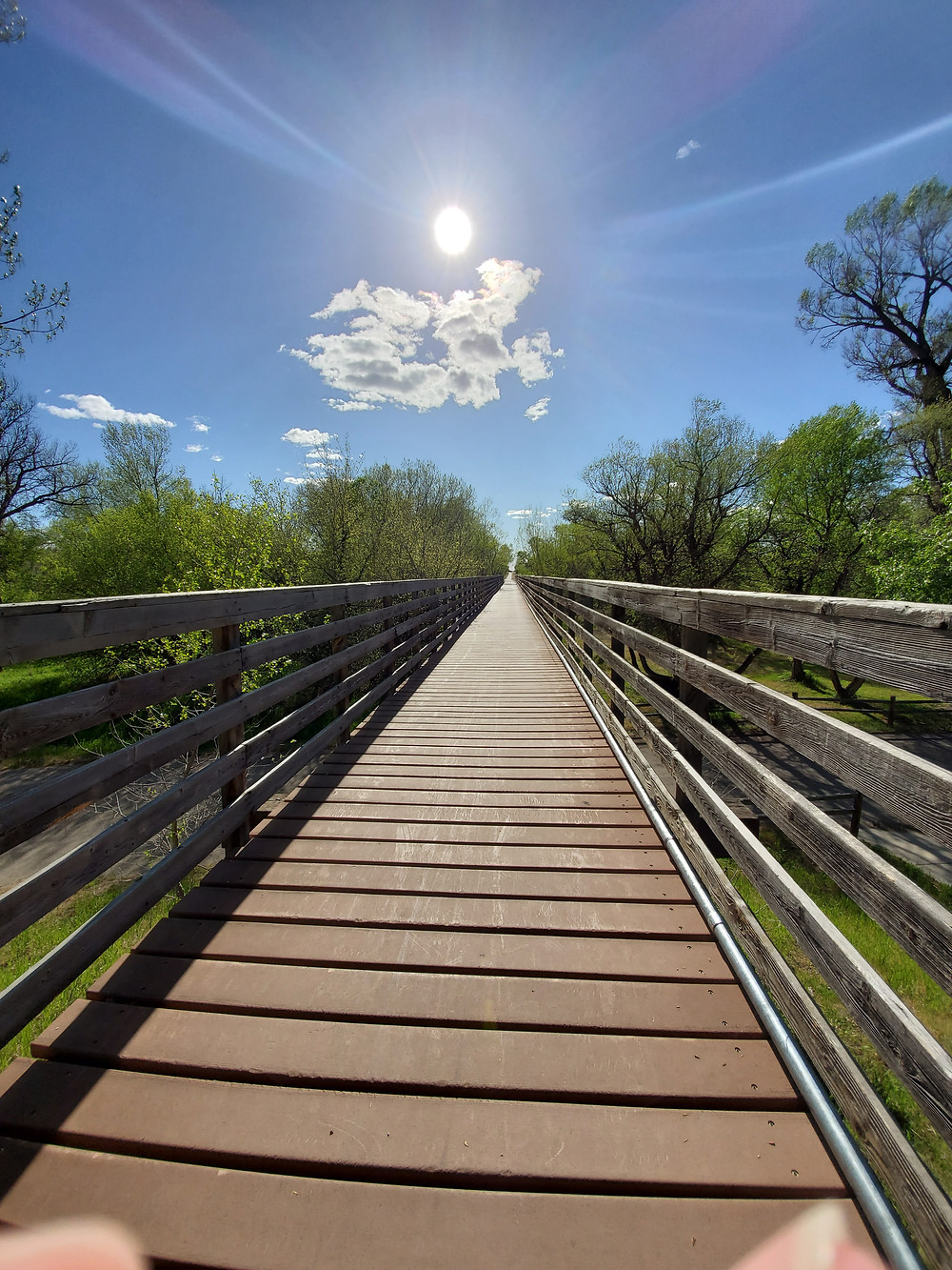 Old railroad bridge, walking trail, Deer Creek Park, Glenrock City Park