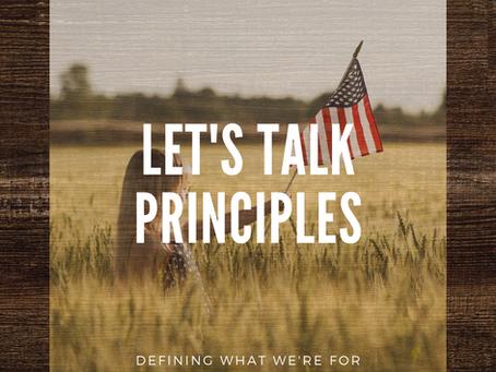 Let's Talk Principles