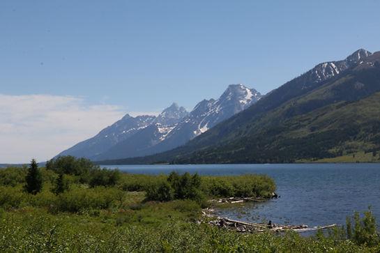 The Grand Teton mountain range.