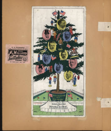 Barnum and Bailey and Buffalo Bill's Wild West show staff Christmas card, ca. 1903. MS006 William F. Cody Collection. MS6.3678.066.00