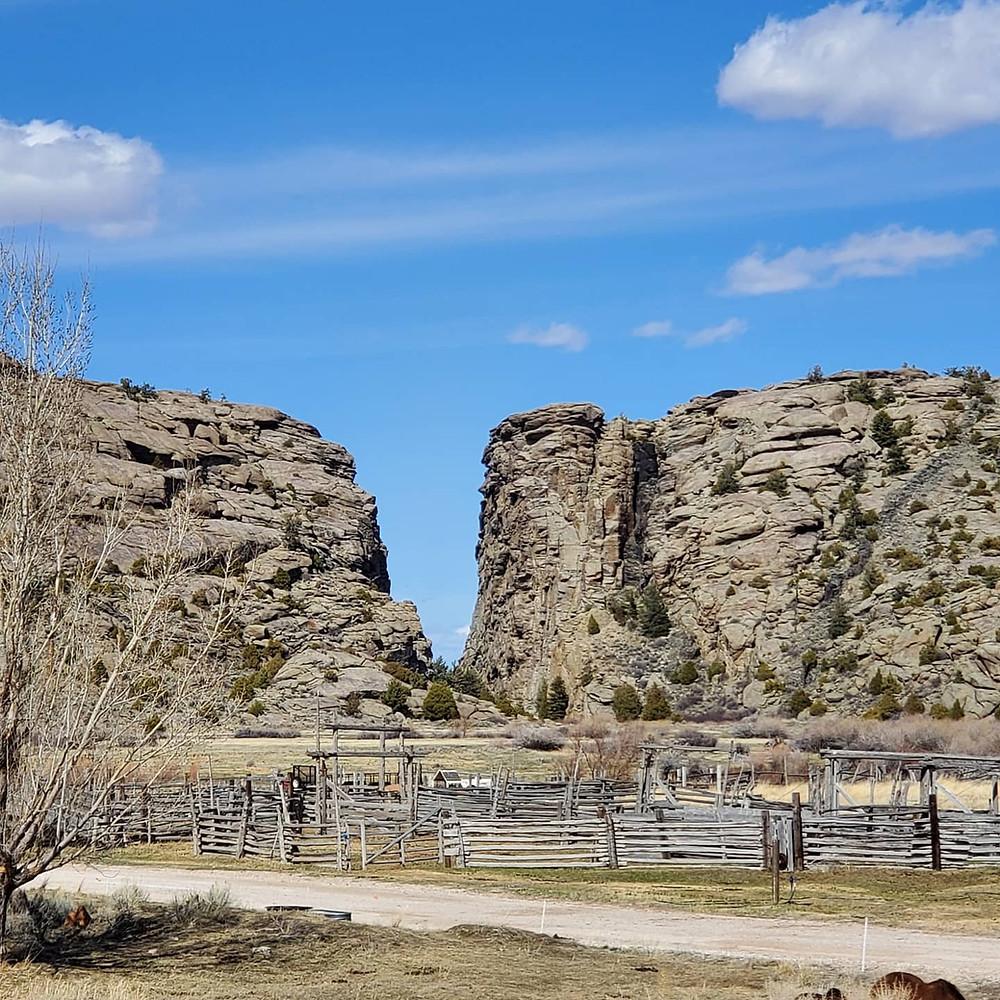 Devil's Gate, Sun Ranch, Oregon Trail, Mormon Handcart Trail, Wyoming