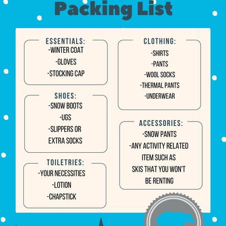 Winter Wyoming Packing List