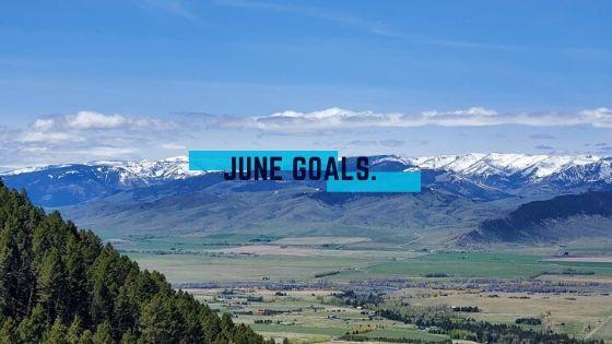 mountains, paradise valley, Montana, June Goals Blog Banner