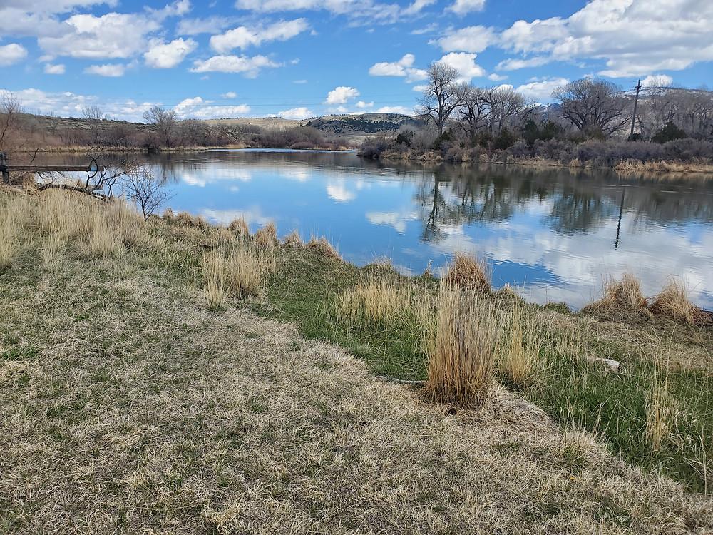 Bessemer Bend, North Platte River, river, early spring