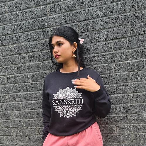 Black Sanskriti Unisex Crewneck Sweatshirt