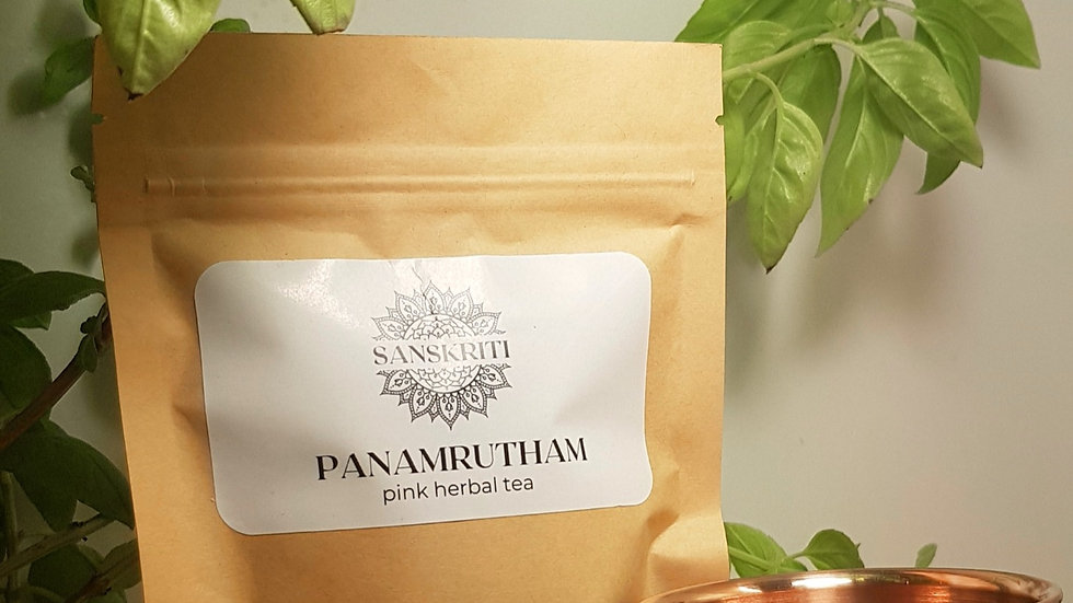 Herbal Ayurvedic Pink Tea - Panamrutham