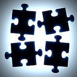 ブラックパズルのピース