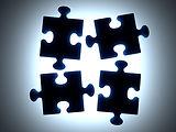 Schwarz Puzzle Pieces
