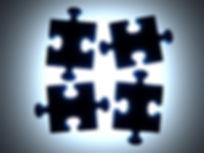Puzzle Pieces Preto