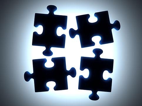 Black Puzzle Pieces