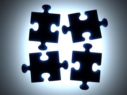 Nero Parti di puzzle