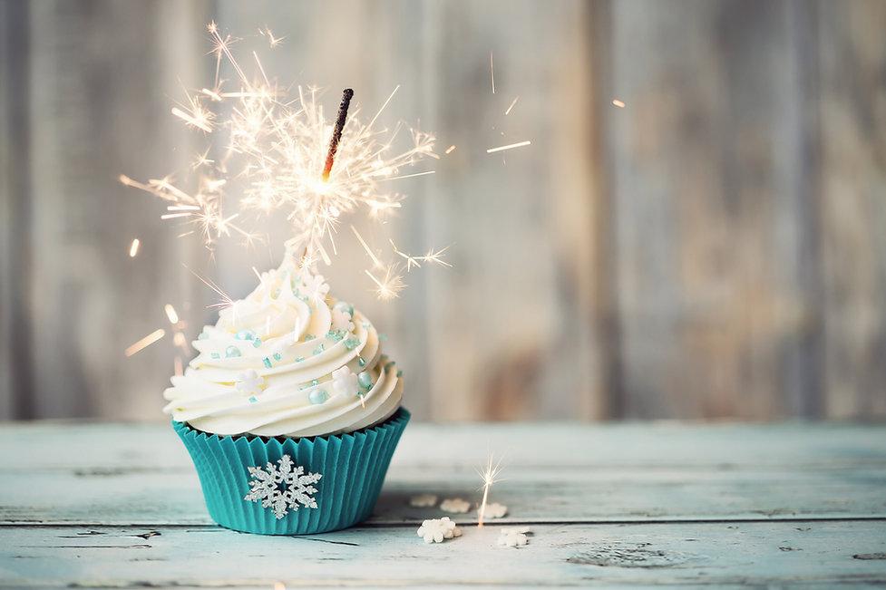 Cupcake sparkling