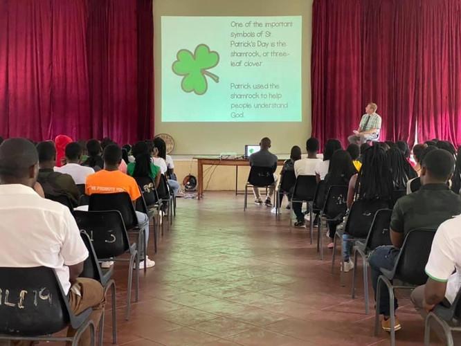 Assembly on St Patrick's Day