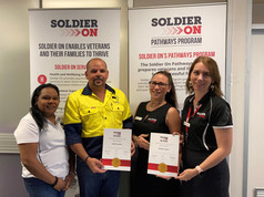Signing on Soldier On Darwin NT.