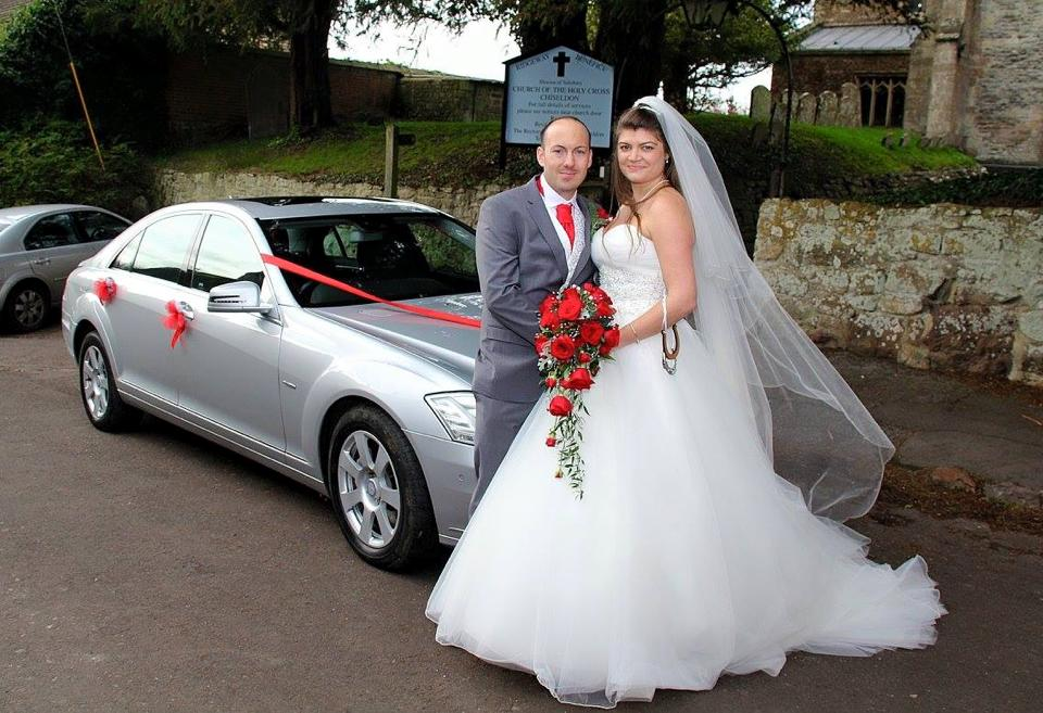 Happy Couple at Chiseldon Church