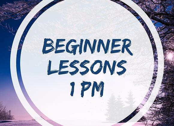 Beginner Lessons Starting November 14, 2020 at 1pm