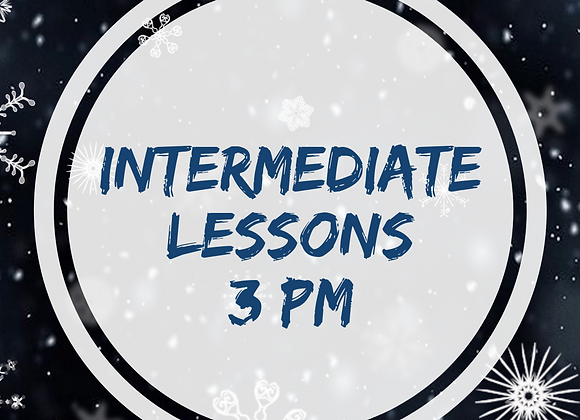 Intermediate Lessons Starting March 6, 2021 at 3pm