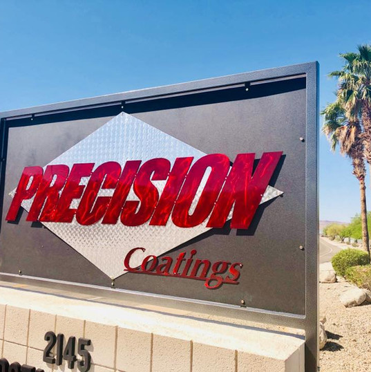 Precision Coatings Sign
