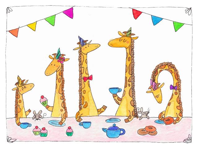 Giraffe's Birthday- personal