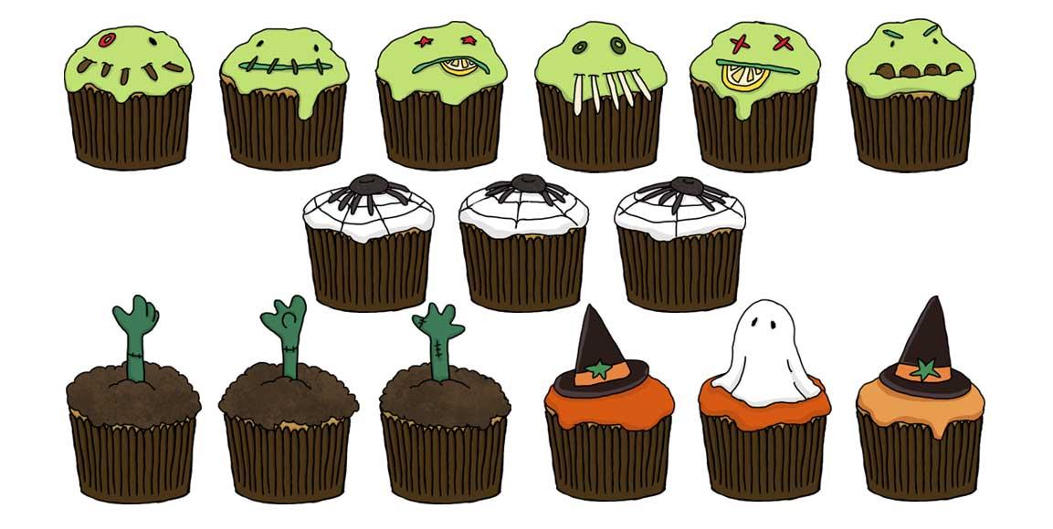 Sarah & Duck- Boo Cakes