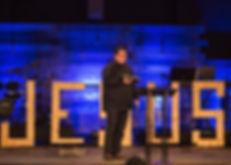 Senior Minister, Eric Keller, preaching