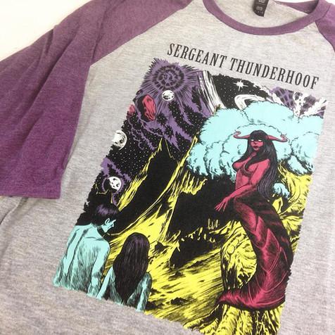 Sergeant Thunderhoof Baseball T-shirt