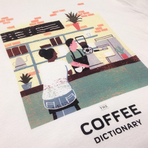 CMYK T-shirt prints for Colonna Coffee