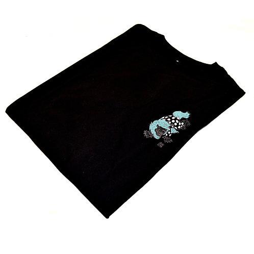 Black Fu Dog T-shirt badge print