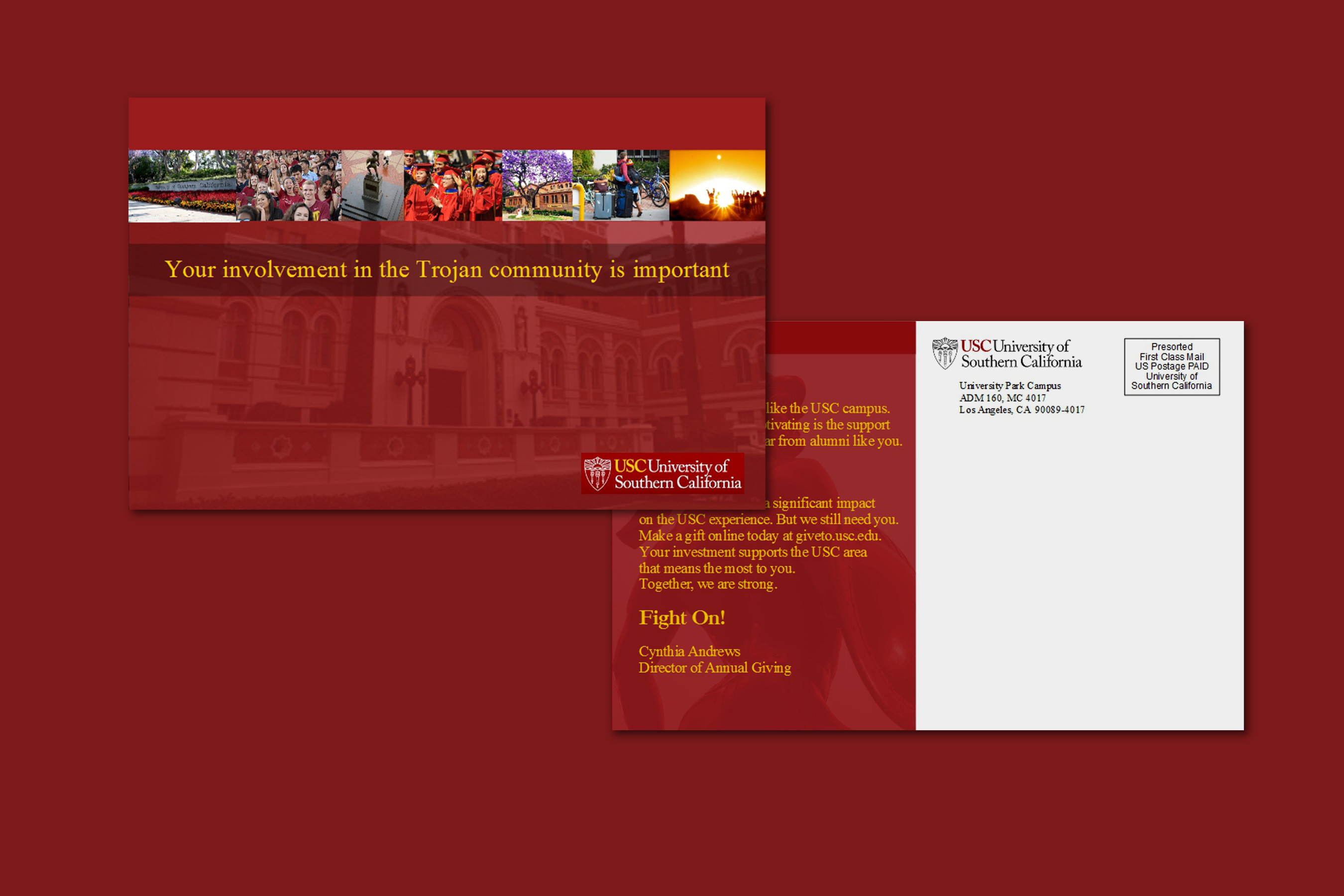 Idea for USC Postcard