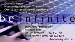 Business Card, BeInfinite