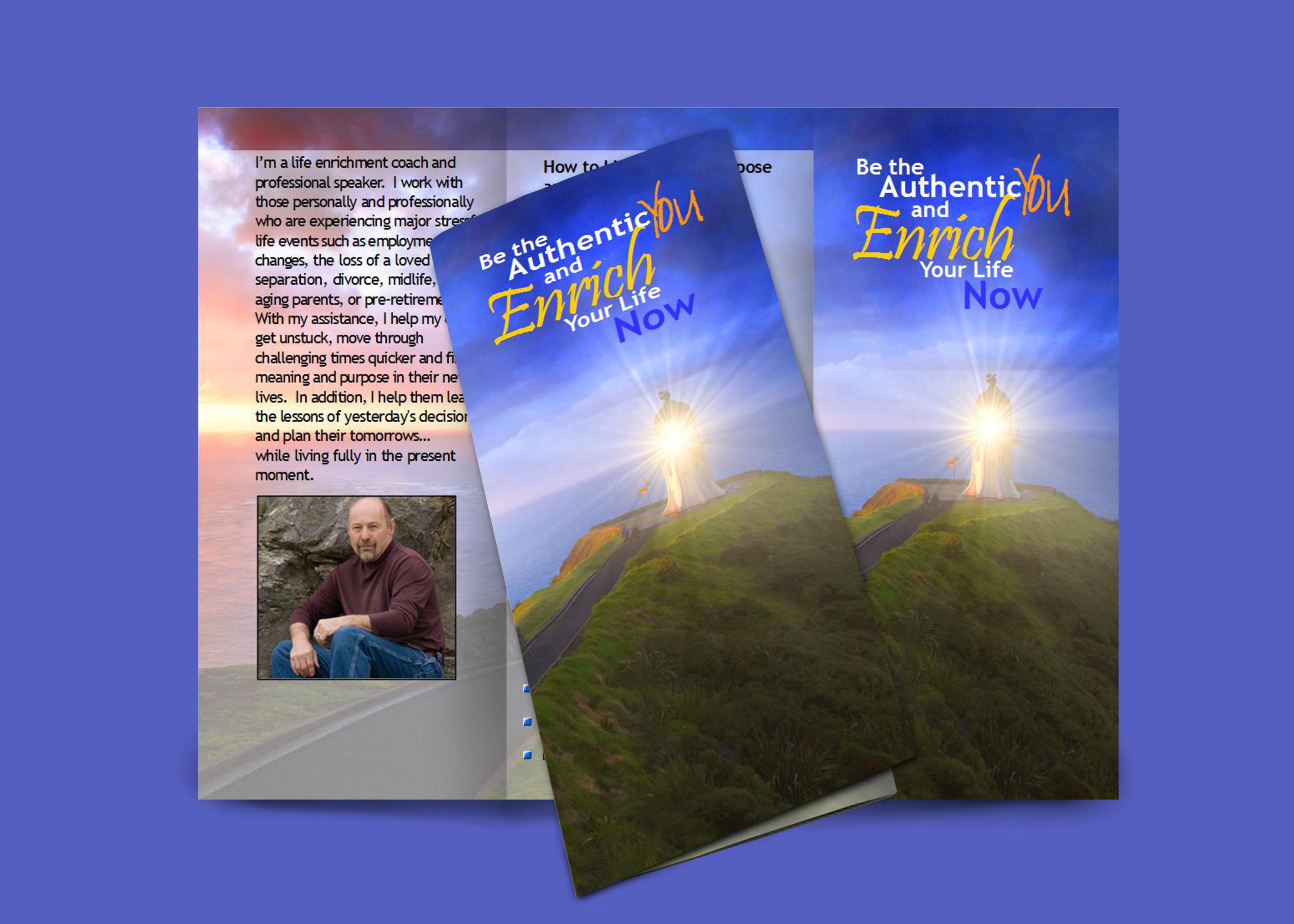 Brochure, Dan Kramer, Life Coach