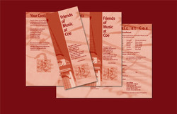 Trifold Brochure Friends of Music at