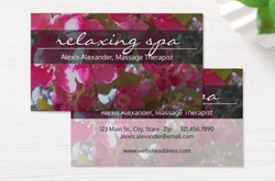 Business Card Template, Spa