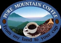 PURE MOUNTAIN COFFEE LOGO OVAL