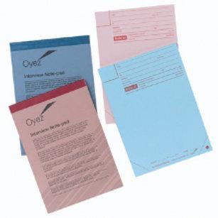 Interview Pad Blue No 2 Notepads. A5 148x210mm. P