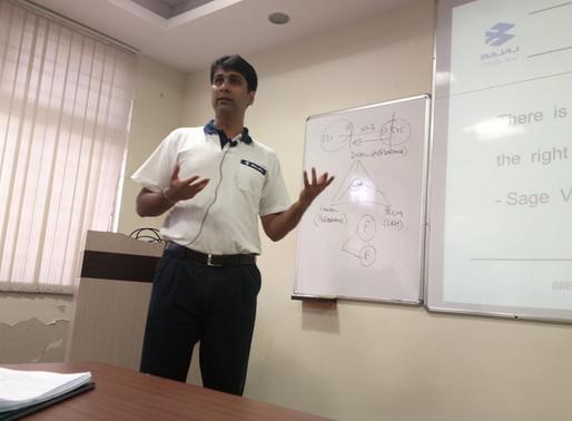 Internship with Bajaj Automakers