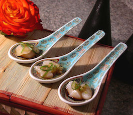 Scallops on Porcelain Spoons
