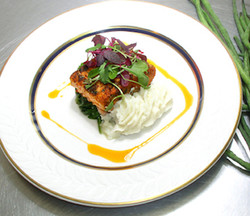 Plated Salmon Entrée