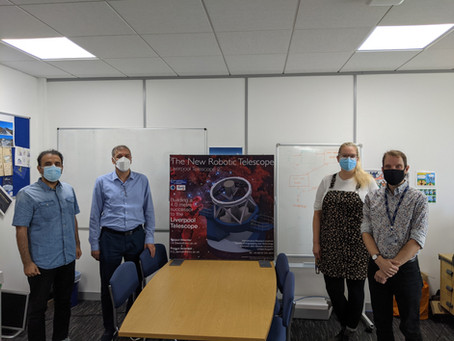 Director of the Iranian National Observatory visits the NRT Liverpool office