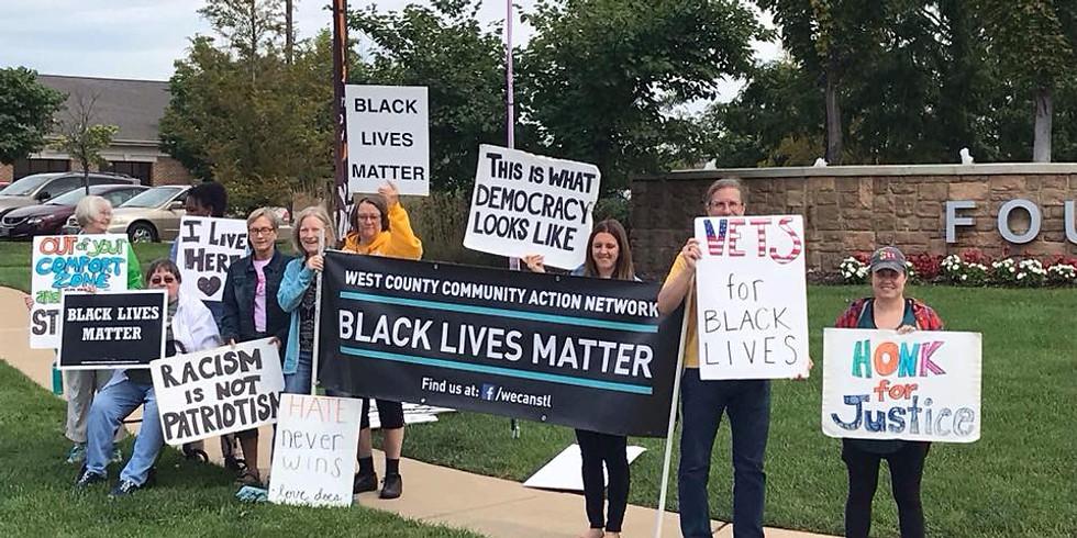 Ellisville Black Lives Matter Vigil